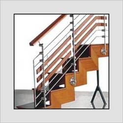 Wooden Stairs Balustrade