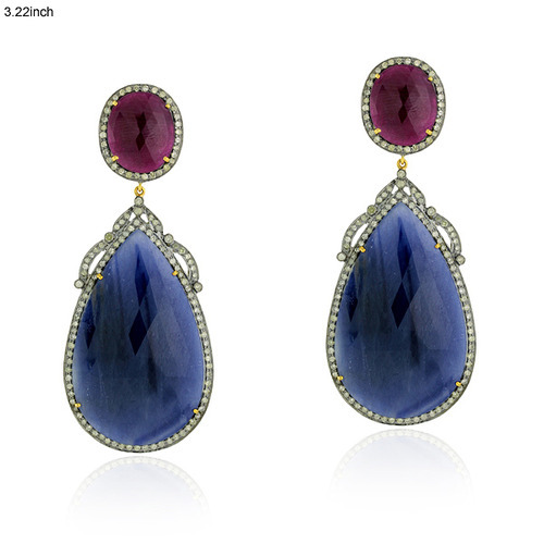 Gemstone Sapphire Earrings Jewelry