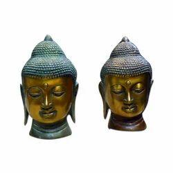 Brass Statue In Buddha Head
