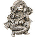 ucchista ganapati white metal wall hanging