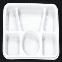 Plastic Meal Trays - 6 Compartment Meal Tray Without Lid Exporter ...