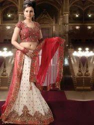 White Brockade Panetar Style Chaniya Choli