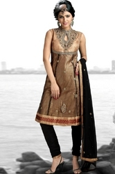 Stunning Gold Nett Embroidered Outfit