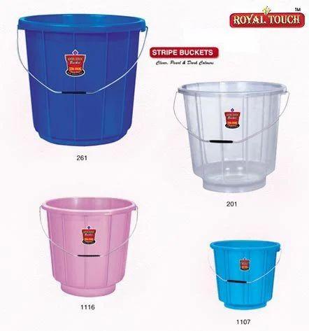 Stripe Plastic Bucket