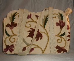 Crewel Handbag Honey Sweet Pine Cotton
