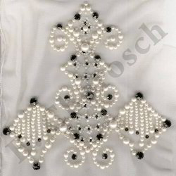Embroidered Design Pearl Work