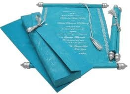 Custom Made Scroll Invites