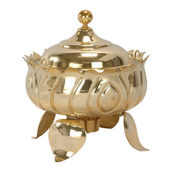 Brass Lotus Design Chafing Dish