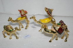 Golden Metal Meena Animals