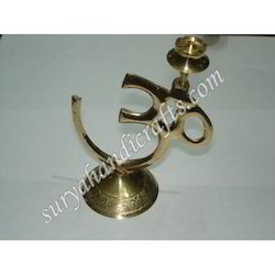 Brass Om With Agarbatti Stand