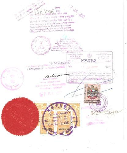 Service provider of embassy attestation services for Consul authentication