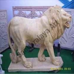 Angry Lion Statue