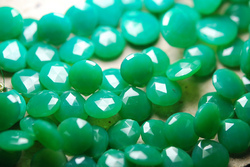 Chrysoprase Chalcedony Faceted Heart Briolettes