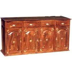 SideBoard with Brass Worked 4 Drawers & 4 Cabinets