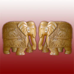 Wooden Elephants Pair