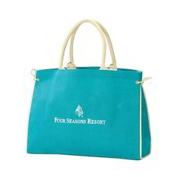 Sky Blue Color Jute Bag