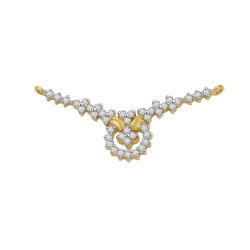 Avsar Real Gold and Diamond  Flower Shape Mangalsutra