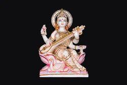 Asthetically Carved Goddess Saraswati Ji