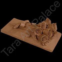 Clay Art Roses Statue