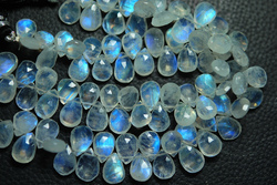 Rainbow Moonstone Faceted Pear