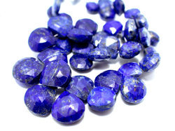 Beautiful Lapis Lazuli Faceted Heart Briolettes