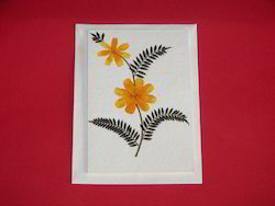 dried flower handmade greeting cards