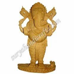 Wooden Standing Ganesha