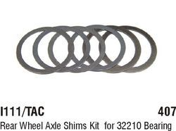 I111/TAC Rear Wheel Axle Shims Kit