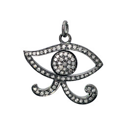 Diamond Evil Eye Pendants