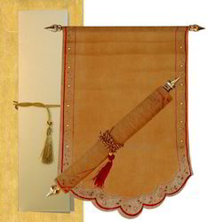 Boxed Scroll Invitations Indian Style