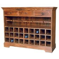 Wine Rack Of 3 Drawers 27 Bottle Rack & 2 Long Shelves
