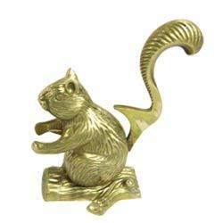 Brass Squirrel Nutcracker
