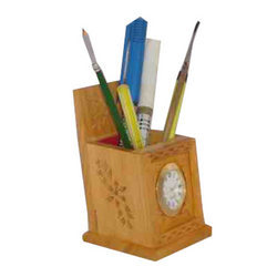Wooden Watch Pens Stand