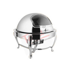 Round Roll Top Chafers