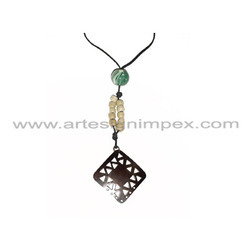 Perforated Metal Necklace