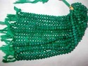 Green Onyx Roundle Faceted Beads