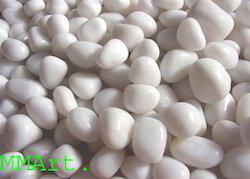 Milky White Quartz Polished Pebbles