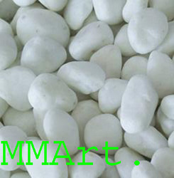 Snow White Quartz Pebbles & Chippings
