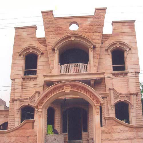 Front Elevation Of House In Jodhpur : Jodhpur stone work on houses in jaipur by rajshree murti