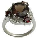 Fashion Silver Black Stone Rings