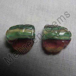 Fluorite Carving Stone Pair