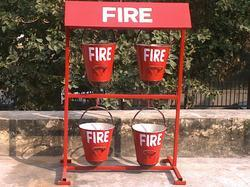 Fire Buckets Hanging Structure
