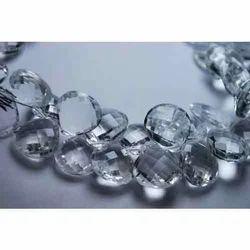 Rock Crystal Quartz Faceted Heart Briolettes