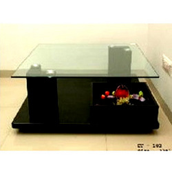 Glass Center Table with 2 legs