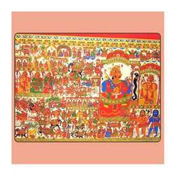 Phad Painting - Dev Narayan