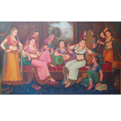 Rajwada Lady Painting