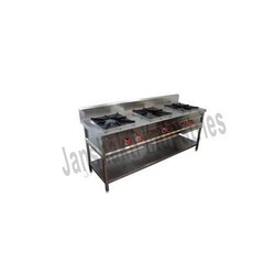 s s three burner gas range