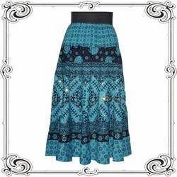 Blue Flare Skirts
