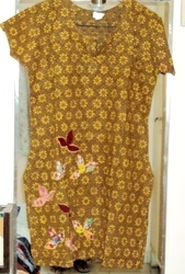 Lemon Yellow Cotton Kurti Size 44