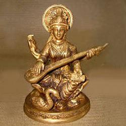 Saraswati Sitting On Lotus W/ Swan
